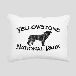Yellowstone Wolf Rectangular Canvas Pillow