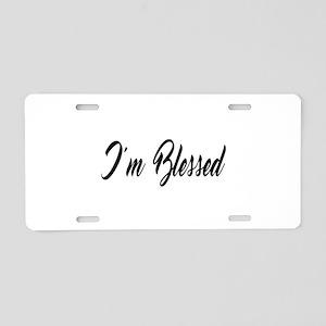 I'm Blessed Christian Aluminum License Plate