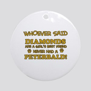 Peterbald Cat breed designs Ornament (Round)