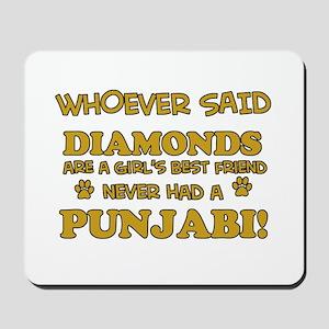 Punjabi Cat breed designs Mousepad