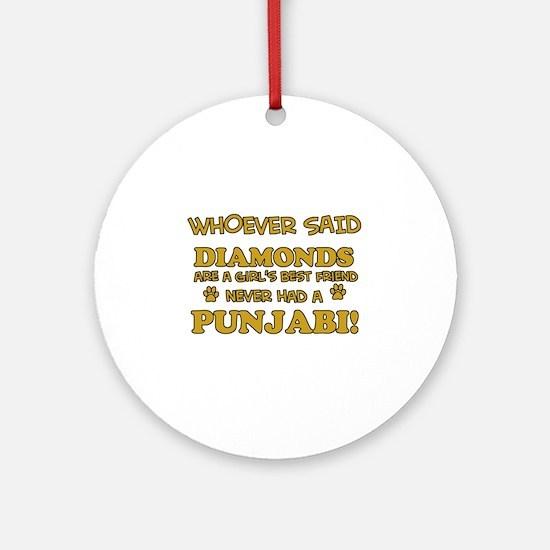 Punjabi Cat breed designs Ornament (Round)