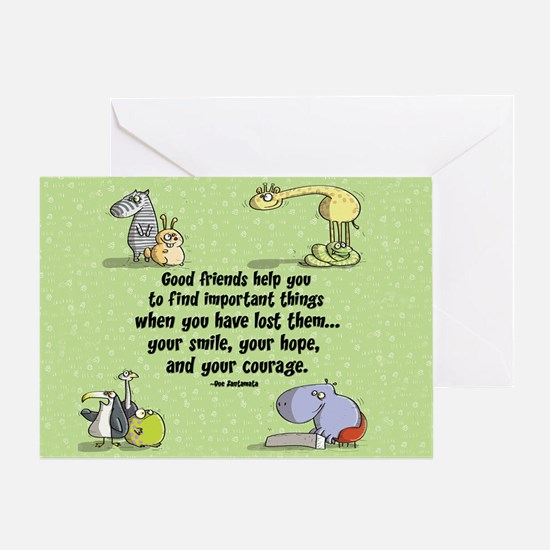 Good friends Greeting Card
