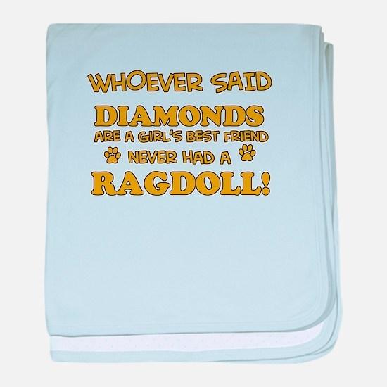 Ragdoll Cat breed designs baby blanket