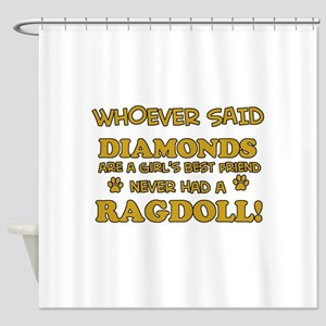 Ragdoll Cat breed designs Shower Curtain