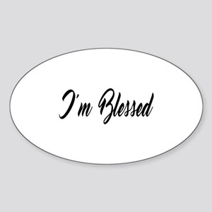 I'm Blessed Christian Sticker (Oval)