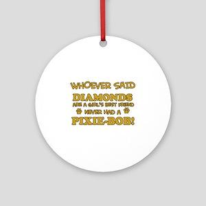 Pixie-Bob Cat breed designs Ornament (Round)