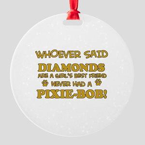 Pixie-Bob Cat breed designs Round Ornament