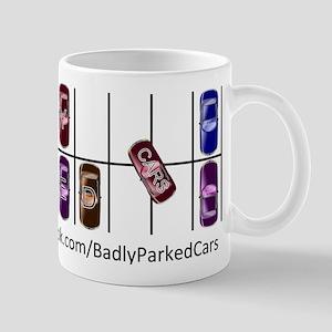 Badly Parked Cars logo Mug