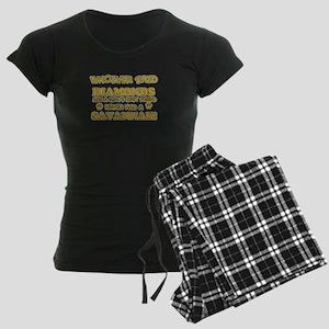 Savannah Cat breed designs Women's Dark Pajamas