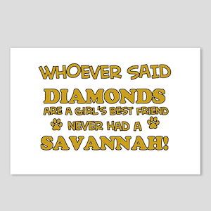 Savannah Cat breed designs Postcards (Package of 8