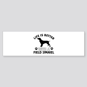Field Spaniel dog gear Sticker (Bumper)