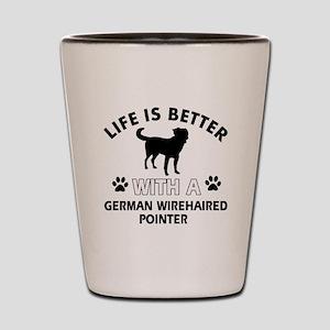 German Wirehaired Pointer dog gear Shot Glass