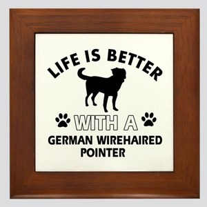 German Wirehaired Pointer dog gear Framed Tile
