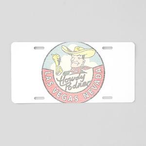 Vintage Vegas Cowboy Aluminum License Plate