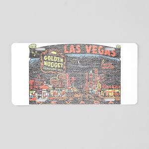 Vintage Las Vegas Strip Aluminum License Plate