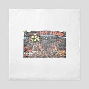Vintage Las Vegas Strip Queen Duvet