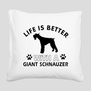 Giant Schnauzer dog gear Square Canvas Pillow