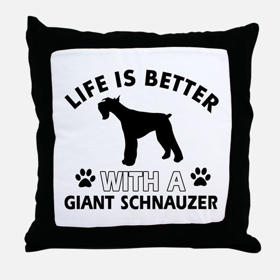 Giant Schnauzer dog gear Throw Pillow
