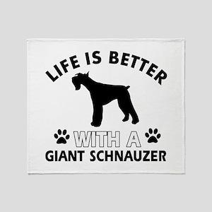Giant Schnauzer dog gear Throw Blanket