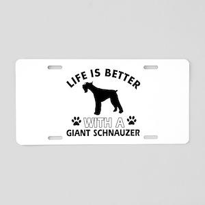 Giant Schnauzer dog gear Aluminum License Plate