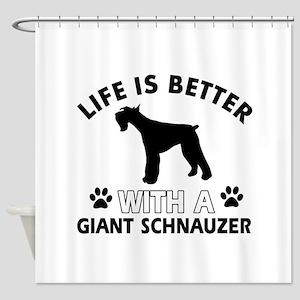 Giant Schnauzer dog gear Shower Curtain