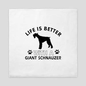 Giant Schnauzer dog gear Queen Duvet