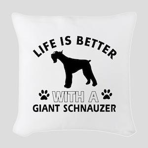Giant Schnauzer dog gear Woven Throw Pillow
