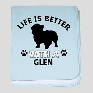 Glen dog gear baby blanket