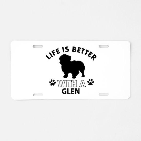 Glen dog gear Aluminum License Plate