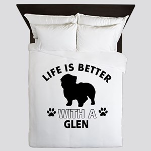 Glen dog gear Queen Duvet