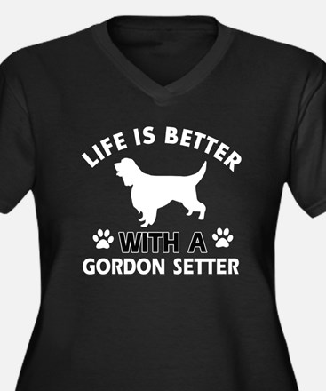 Gordon Setter dog gear Women's Plus Size V-Neck Da