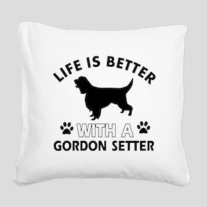Gordon Setter dog gear Square Canvas Pillow