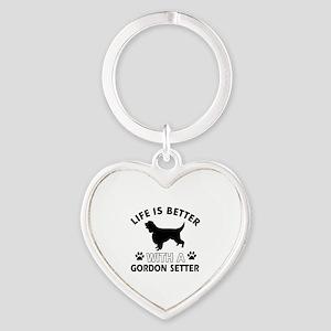 Gordon Setter dog gear Heart Keychain