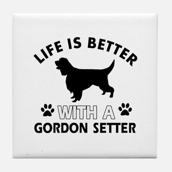 Gordon Setter dog gear Tile Coaster