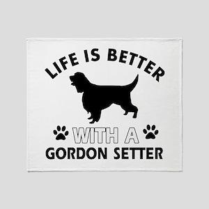 Gordon Setter dog gear Throw Blanket