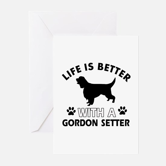 Gordon Setter dog gear Greeting Cards (Pk of 10)