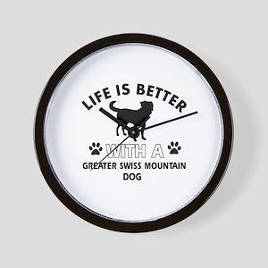 Greater Swiss Mountain Dog dog gear Wall Clock