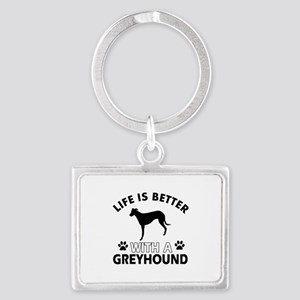 Greyhound dog gear Landscape Keychain