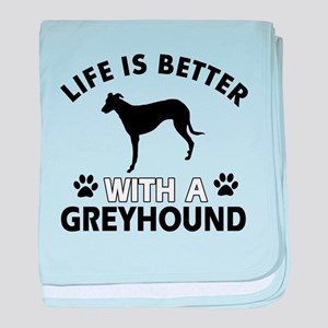 Greyhound dog gear baby blanket