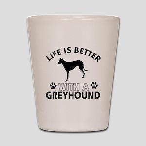 Greyhound dog gear Shot Glass