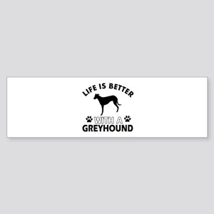 Greyhound dog gear Sticker (Bumper)