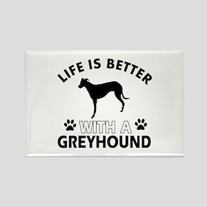 Greyhound dog gear Rectangle Magnet