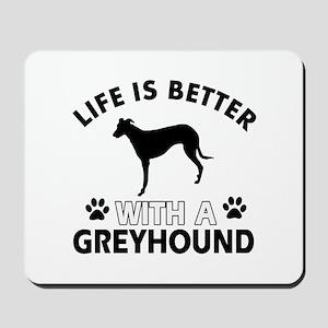 Greyhound dog gear Mousepad