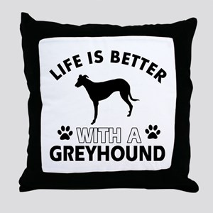 Greyhound dog gear Throw Pillow