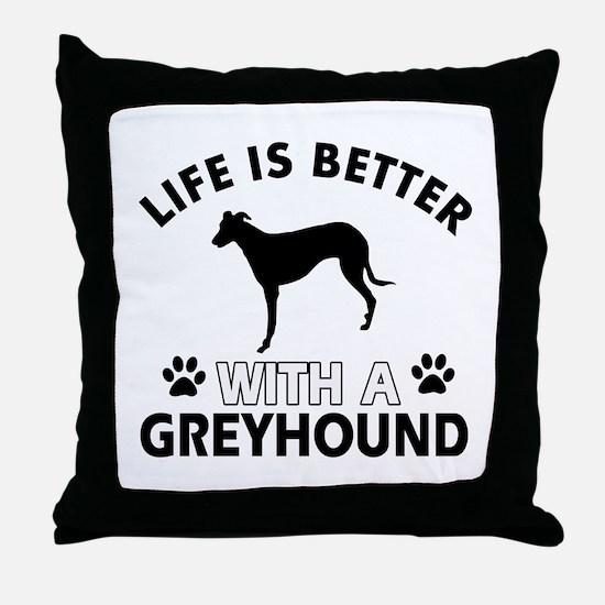 Greyhound dog gear Throw Pillow