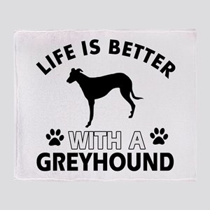 Greyhound dog gear Throw Blanket