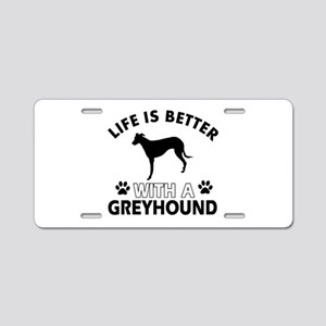 Greyhound dog gear Aluminum License Plate