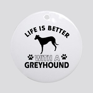 Greyhound dog gear Ornament (Round)