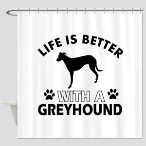Greyhound dog gear Shower Curtain