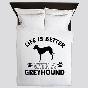 Greyhound dog gear Queen Duvet